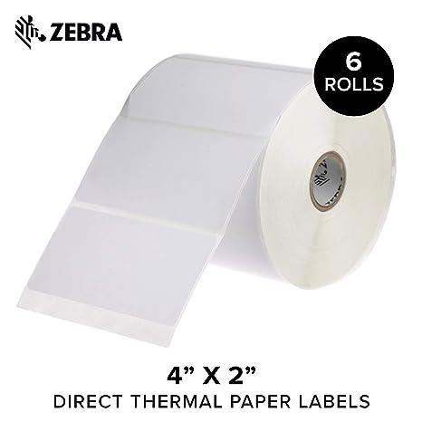 Amazon.com: Zebra - Etiquetas de papel térmico directo, Z ...