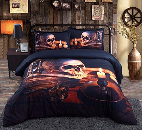 beddinginn halloween skull with candle 3d bedding set 50cotton 50tencel 5pcs comforter