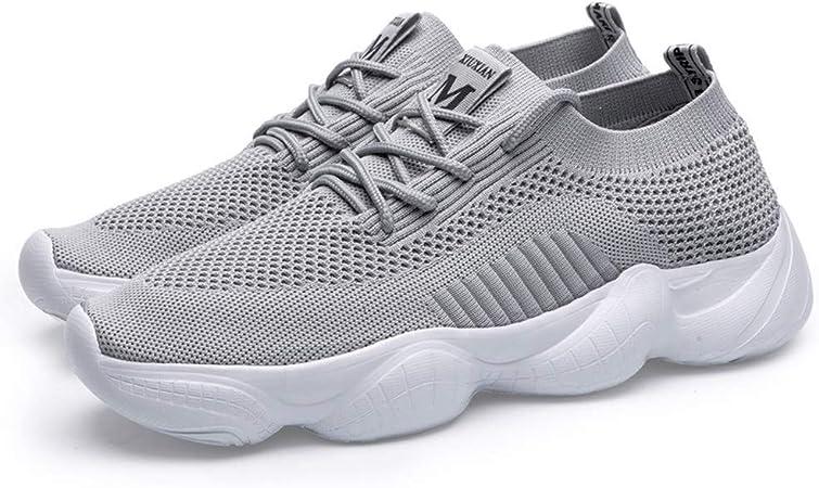 SXFGML Mujer Zapatos Deporte Mujer Zapatillas Deportivas para Correr Caminar Gimnasio Transpirable Sneakers,Gris,46: Amazon.es: Hogar