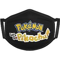 KNJF Pokémon Let'S Go Pikachu - Toalla cuadrada para niños, transpirable, lavable y reutilizable