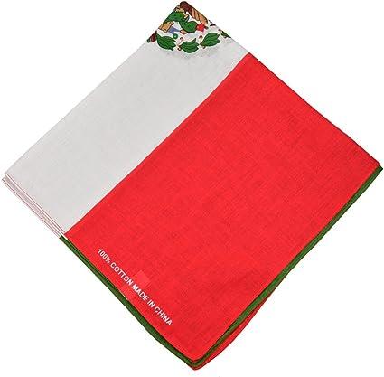 "100/% Cotton Paisley Bandanas Double Sided /""Mexico Flag/"" Handkerchief Headscarf"