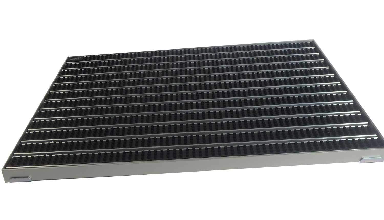 Gr/ö/ße:600 x 400 mm EMCO Eingangsmatte DIPLOMAT 22mm B/ürsten schwarz mit ALU Rahmen Fu/ßmatte T/ürmatte Abstreifer