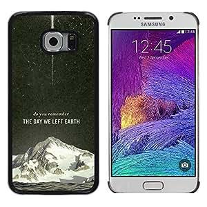Smartphone duro PC Carcasa Funda protectora para Samsung Galaxy S6EDGE/Phone Case TECELL Store/The Day We Left Earth Galaxy Rocket