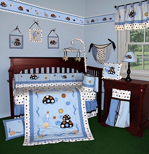 SISI Baby Bedding - Turtle Parade 14 PCS Crib Bedding Inc...