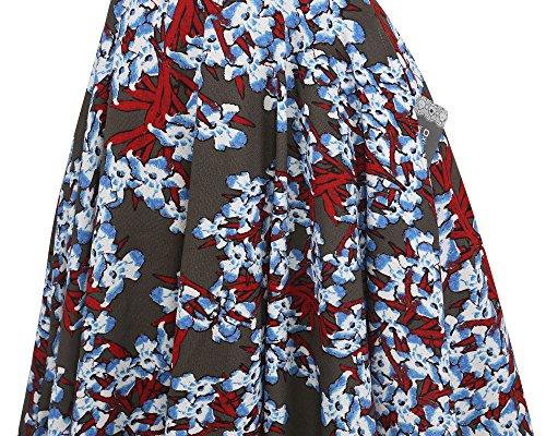 Altalena Vestito Casuale Spalla Oxiuly Ox232 Annata Cocktail Donne Grigia Lavoro Fuori Delle Tasche aUOgqTO0w