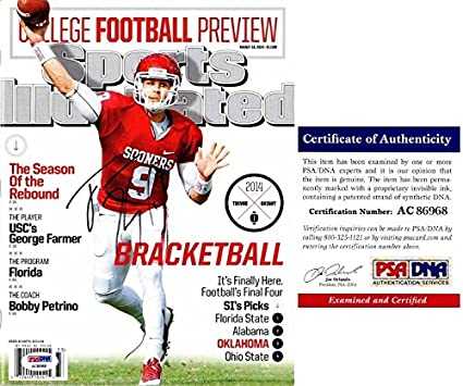 Trevor Knight Autographed Signed Oklahoma College Preview Sports llustrated  Magazine PSA DNA Authentic 9a527e6b8