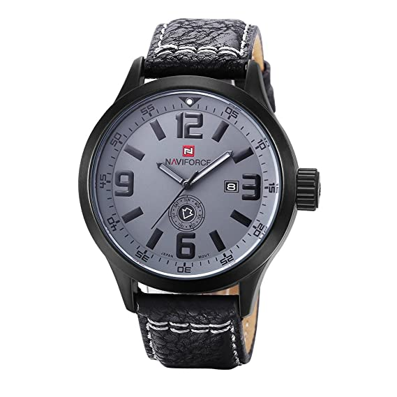 Hombre Reloj de cuarzo, Relojes militares 30m impermeable Calendario Semana Aire libre Sportuhr Casual Resistente a los golpes-D: Amazon.es: Relojes