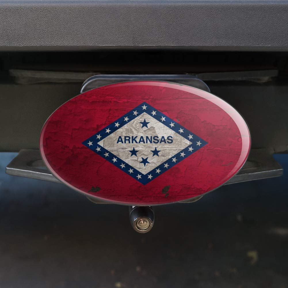 1.25 Graphics and More Rustic Arkansas State Flag Distressed USA Oval Tow Hitch Cover Trailer Plug Insert 1 1//4 inch