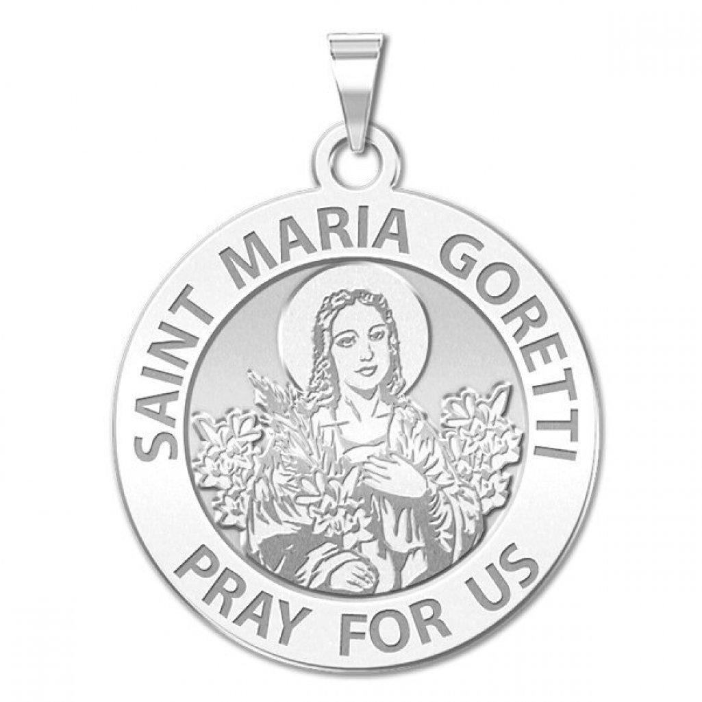 Amazon.com: Saint Maria Goretti Religious Medal - 2/3 Inch Size of ...