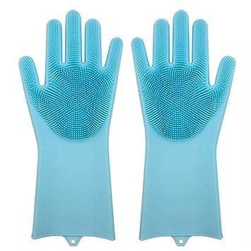 DOGZI Guantes de silicona reutilizables mágicos, cepillo de limpieza, guantes de limpieza, resistentes al calor: Amazon.es: Hogar