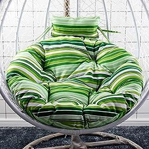 WGG Coussin de chaise pour oeuf suspendu, coussins de chaise pivotants Coussin de fauteuil pivotant lavables, coussins de siège en hamac berceau antidérapants sans support,B,D105cm (41inch) 3