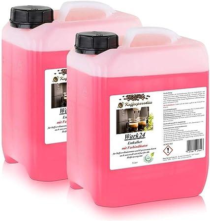 wark24 líquido descalcificador 5 litros para máquinas de café, cafetera, hervidor de agua – cal löser Adecuado para Bosch, Siemens, Miele, Jura, Krups, Philips, Saeco, WMF, Delonghi uvm. (2 unidades): Amazon.es: Hogar