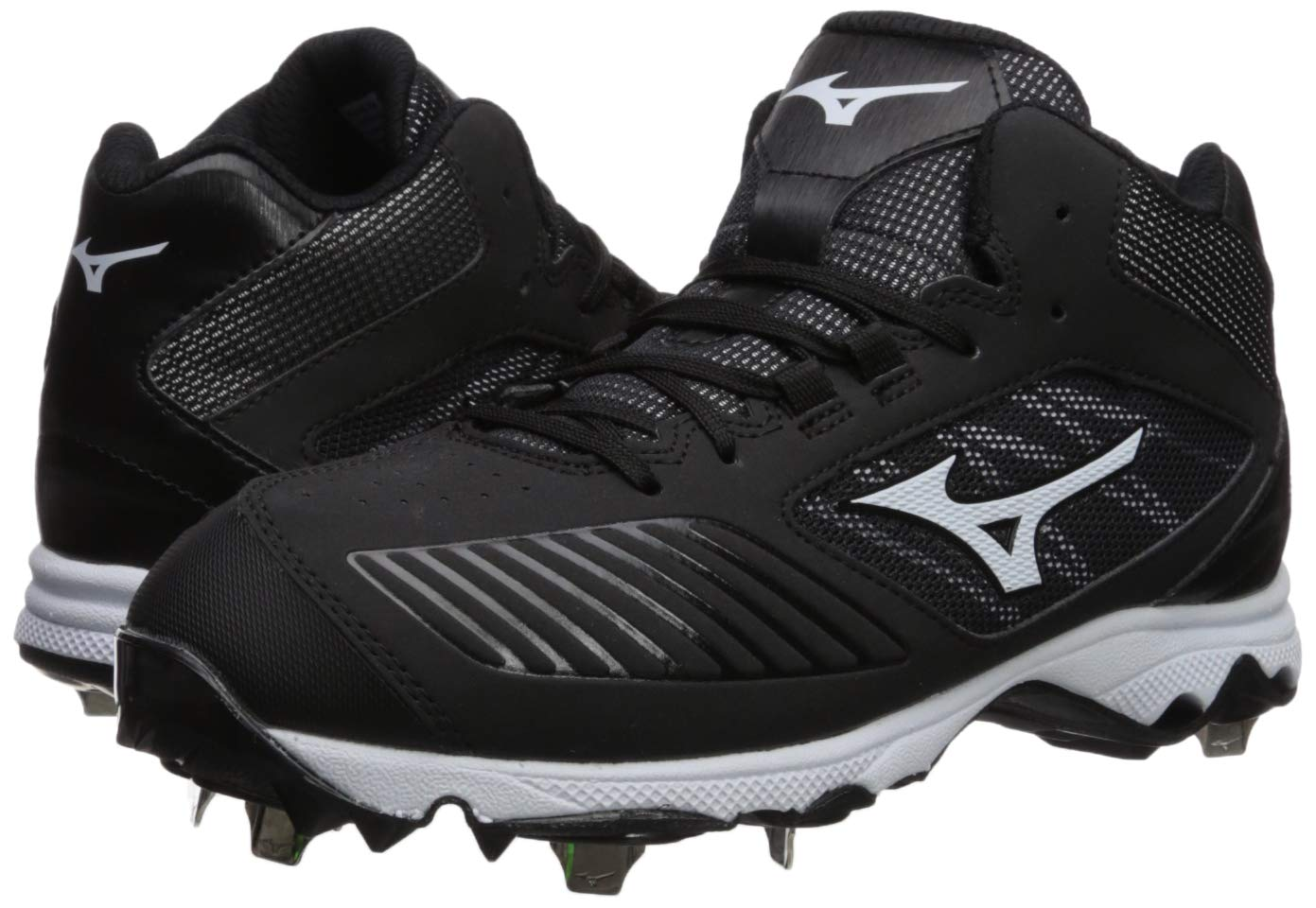 Mizuno Women's 9-Spike Advanced Sweep 4 Mid Metal Softball Cleat Shoe, Black/White 6 B US by Mizuno (Image #5)