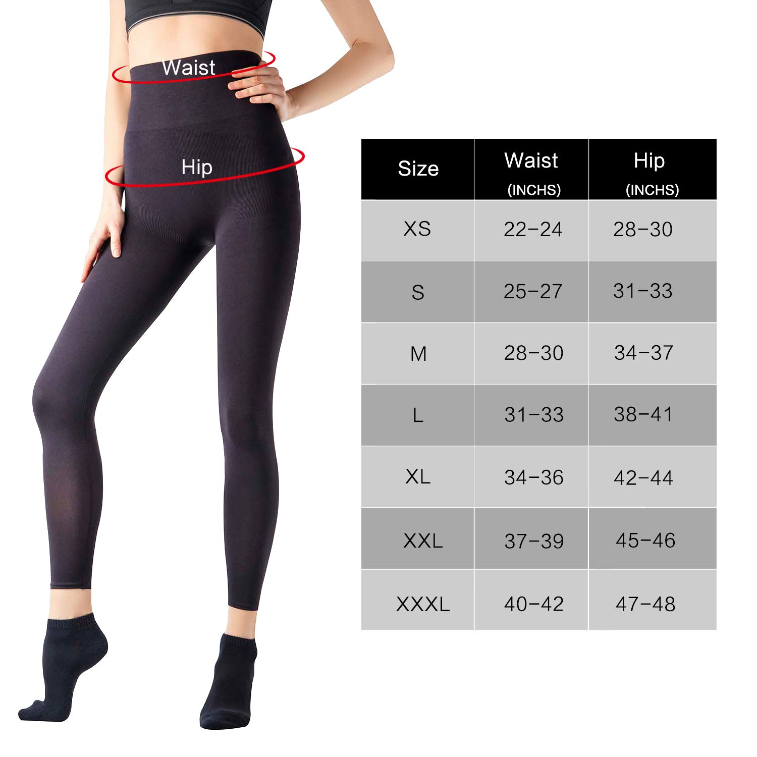 443d3c3f32 MD Women s High Waist Shapewear Compression Slimming Leggings Tight Tummy  Hips and Thigh Medium Control Shaper