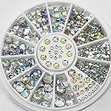 Diamonds Dazzling Nail Art Decoration Colorful Nail Sticker Sequins 3D Metallic Nail Art Sticker