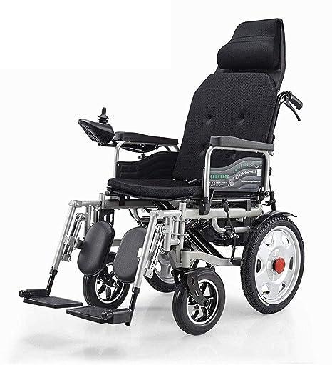 MJK Silla de ruedas eléctrica plegable, silla eléctrica con ...