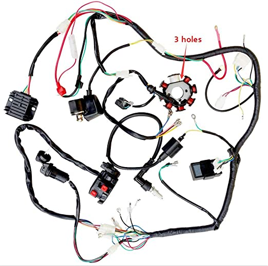 Facaing - Conjunto Completo de arnés de cableado eléctrico para ...