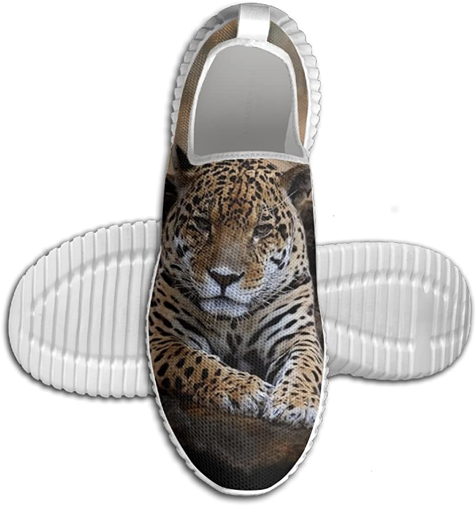 Mens Leisure Sports Shoes Animal Forest Leopard Resting Rock Fashion Running Shoe