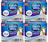 Fresh Step Multi-Cat with Febreze Freshness, Clumping Cat Litter, Scented, 4-Pack