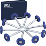 "XiKe 10 Pack Blue 2"" Nylon Garage Door Roller 4"" Stem, Quiet/Durable and High Load, Use 6200-2RS Double Seals Precision Beari"
