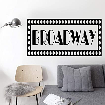 Amazon Wall Decal Sticker Art Mural Home Decor Quote Broadway