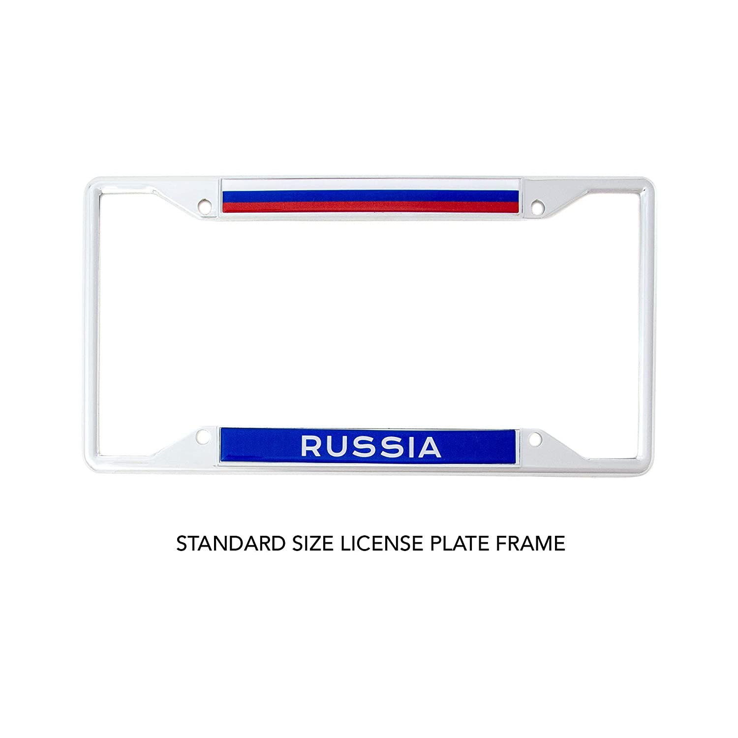 Desert Cactus Country of Russia Flag License Plate Frame for Front Back of Car Vehicle Truck Russian