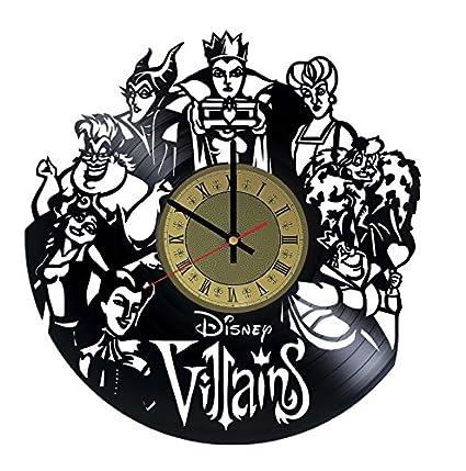 Amazon Com Walt Disney Villains Vinyl Wall Clock Handmade Unique