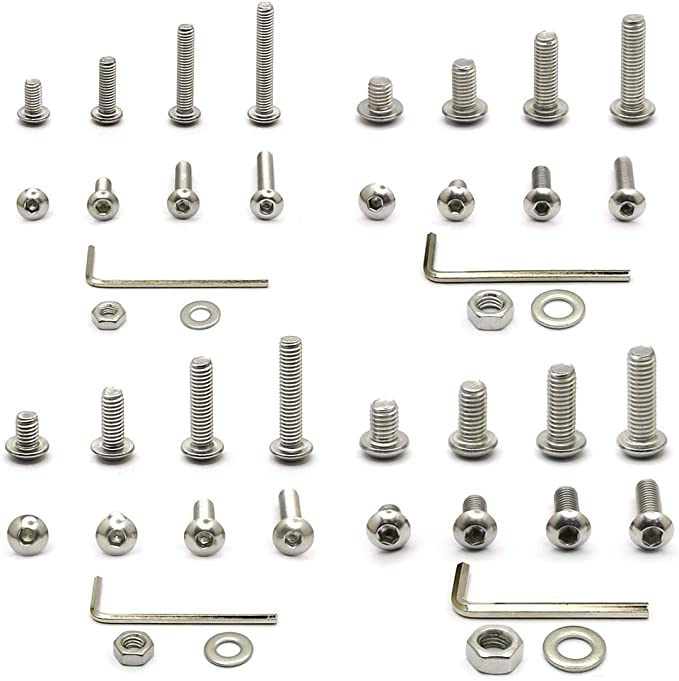x 16mm Stainless Steel 304 Screw Bolt Allen 5mm Qty 10 Button Head Socket M5