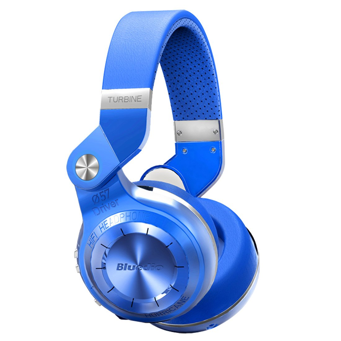 Auriculares Bluedio T2 Plus Turbine Inalambrico Bluetooth con Mic/Micro SD Card Slot/FM Radio (Blue)