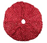 Farrisilk Red Ruched Simply Elegant Tree Skirt 60''