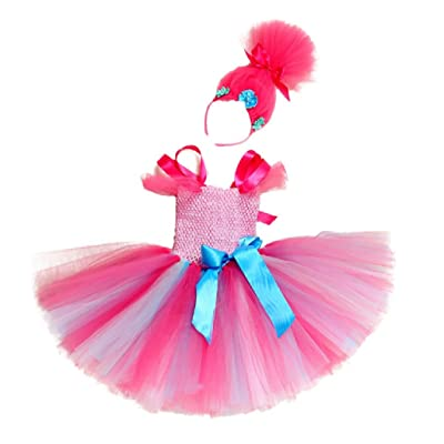 Pink Poppi Tutu Dress Costume w/Headband from Chunks of Charm: Clothing