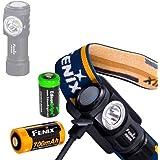 Fenix HM50R 500 Lumen USB rechargeable CREE LED multipurpose Headlamp with EdisonBright CR123A Lithium back-up battery bundle