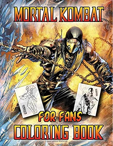 Amazon Com Mortal Kombat Coloring Book For Fans 9781654637286