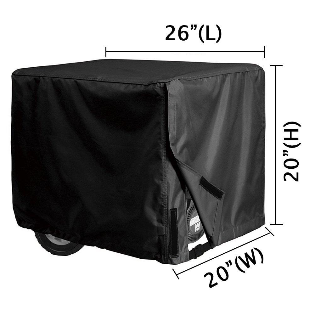 Xiliy Universal Generator Cover Weatherproof 600D Oxford Polyester Black 26