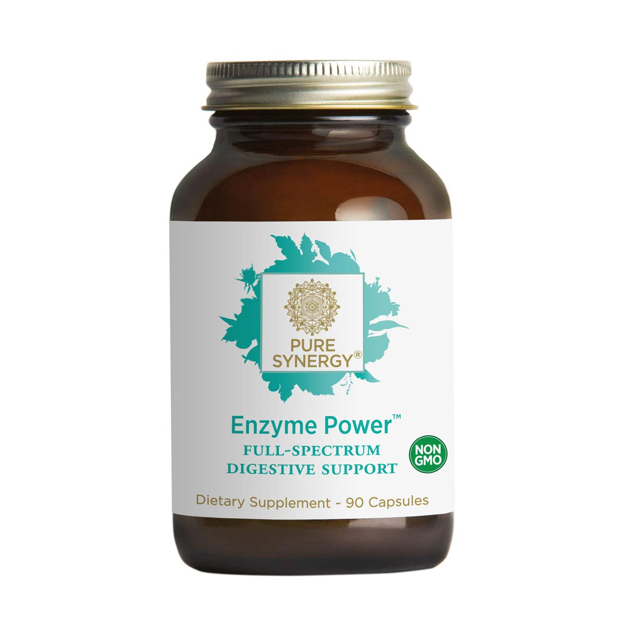 Pure Synergy Enzyme Power (90 Capsules) 15+ Plant-Based Digestive Enzymes Including Bromelain, Lipase, Amylase & More