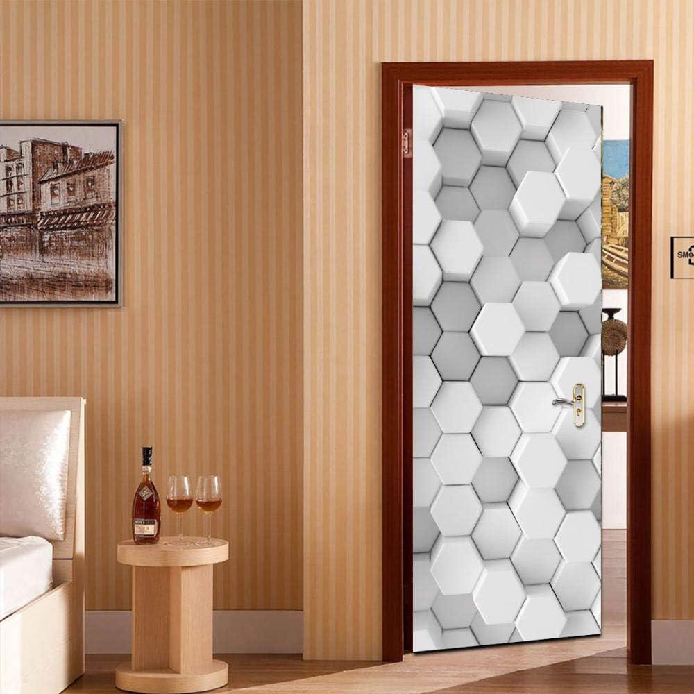 Vinilos decorativos geométricos 3D para puertas Vinilos ...