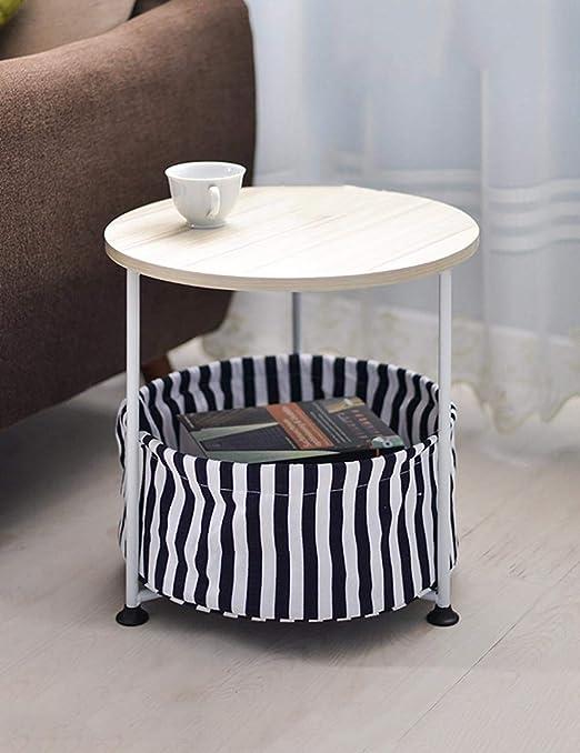 Mesa ordenador Tabla móvil Sofá pequeño café de la Esquina Redonda ...