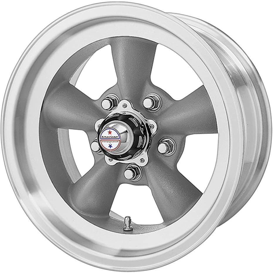 "American Racing Custom Wheels VN105 Torq Thrust D Torq Thrust Gray Wheel With Machined Lip (15x7""/5x120.7mm, -6mm offset)"
