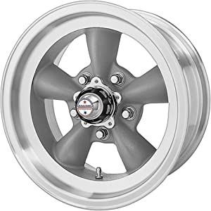 "American Racing Custom Wheels VN105 Torq Thrust D Torq Thrust Gray Wheel With Machined Lip (15x7""/5x120.7mm, -6mm offset)"