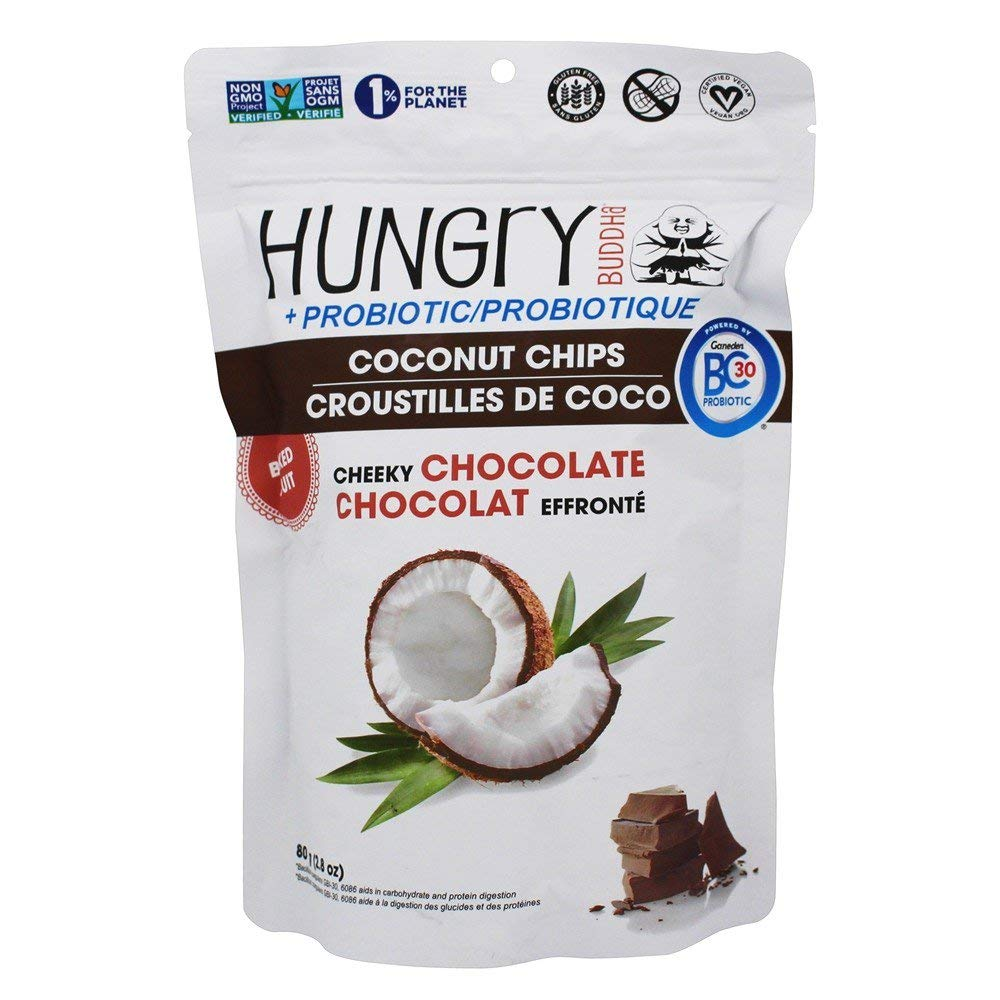 Hungry Buddha - Probiotic Coconut Chips Cheeky Chocolate - 2.8 oz.