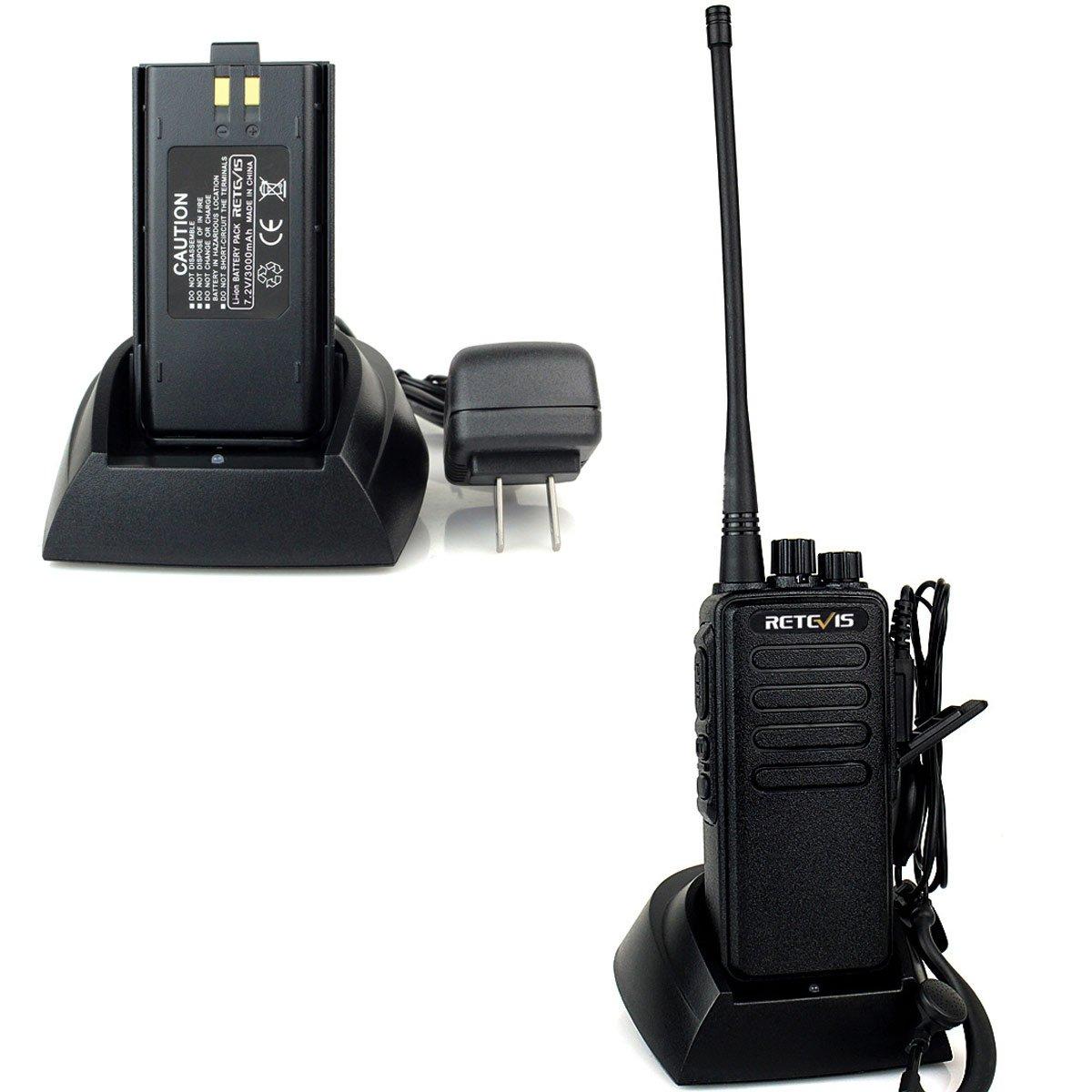 Retevis RT1 10W UHF Two Way Radio 70CM 400-520 MHz 16CH VOX Scrambler Ham radio and Speaker Mic (5 Pack) by Retevis (Image #5)