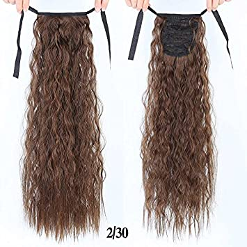 Amazon Com 22 Inch Long Wavy Ponytail For Black Women Wine