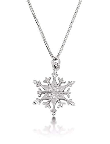a6f1e8731 Disney Couture Frozen White Gold Plated Snowflake Necklace: Amazon.co.uk:  Jewellery
