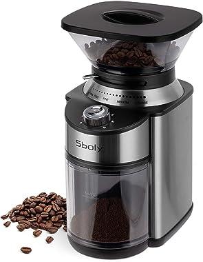 Sboly 10DE-801 Conical Burr Coffee Grinder