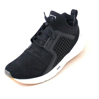 Puma Men s Ignite Limitless Reptile Black Running Shoes - 10 UK India (44.5  EU a5d1dc127