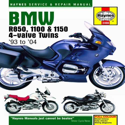 BMW R850, 1100 & 1150 4-Valve Twins '93 to '06 (Haynes Service & Repair Manuals)