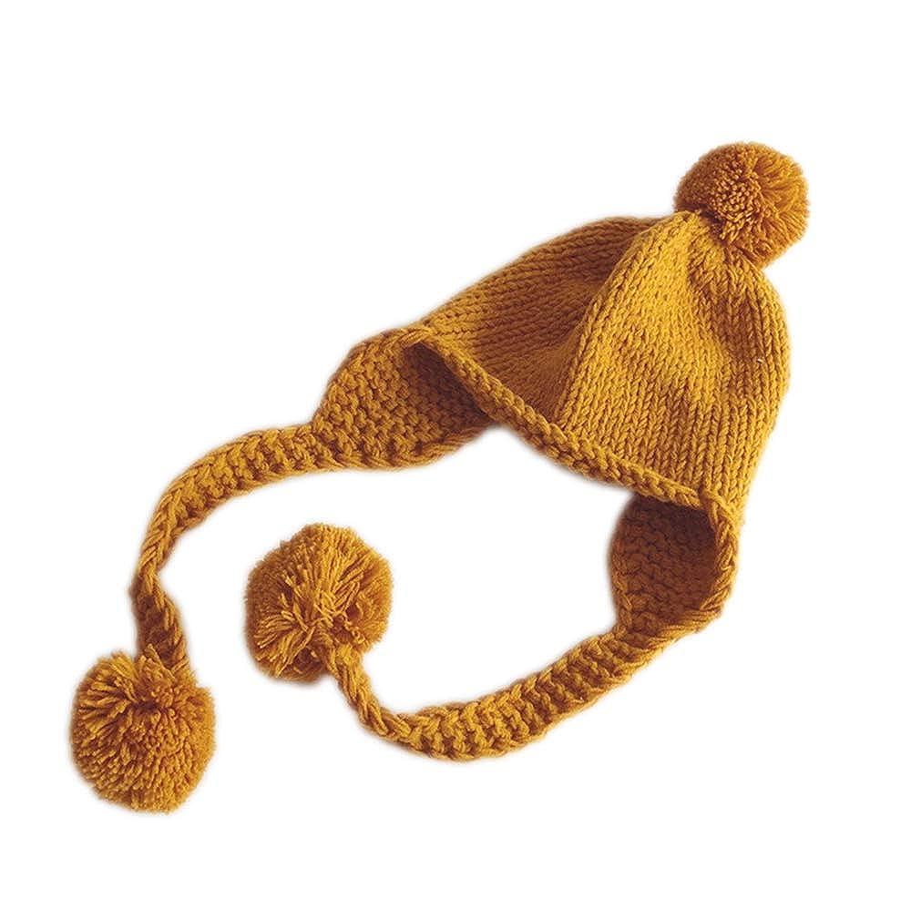 Famesale Niños Borla Sombrero Cálido Protección Para Los Oídos ...