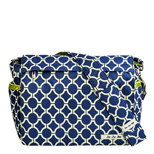 JuJuBe Better Be Messenger Diaper Bag, Classic Collection - Royal Envy (Ju Ju Be Be Right Back Platinum Petals)