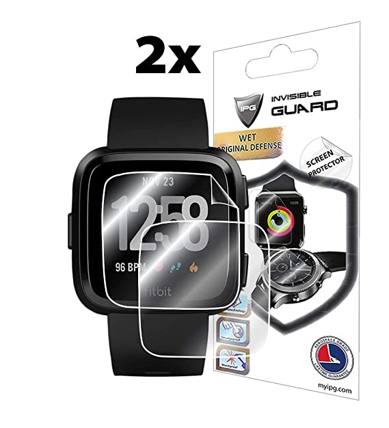 IPG para Fitbit Versa Smartwatch (SC) (2X) Protector 3D Curvado (2 ...