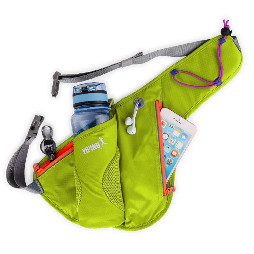 Ymysfit - Cinturón de Running Belt Riñonera de Deporte/Viaje, Impermeable, multibolsillo, Ligero, para Deporte portátil, Color Morado, tamaño Code Moyen